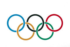 Olympic Rings Symbol. Or icon Stock Photography