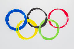 Olympic Rings water color Stock Photography