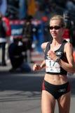 olympic s prov 2008 för boston maraton oss kvinnor Royaltyfri Foto