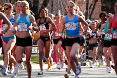 olympic s prov 2008 för boston maraton oss kvinnor Arkivbild