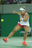 Olympic silver medalist Angelique Kerber of Germany in action during tennis women's singles final Royalty Free Stock Photos