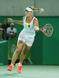 Olympic silver medalist Angelique Kerber of Germany in action during tennis women's singles final Stock Photography