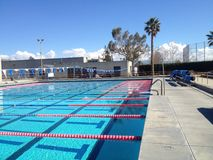 Olympic size pool Royalty Free Stock Photos
