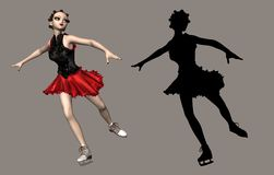 Olympic Skater. Digital beauty for your artistic creations and/or projects vector illustration