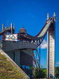 Olympic ski jump complex Stock Photography
