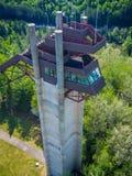 Olympic ski jump complex. In Lake Placid, NY, USA Stock Photo