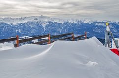 Olympic ski trail Rosa Khutor. Stock Photography