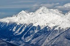 Olympic ski trail Rosa Khutor. Royalty Free Stock Photography