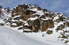 Olympic ski trail Rosa Khutor. Royalty Free Stock Photo