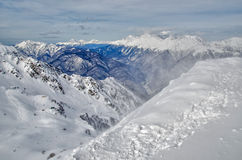 Olympic ski trail Rosa Khutor. Stock Photo