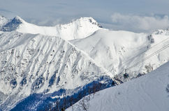 Olympic ski trail Rosa Khutor. Royalty Free Stock Photo