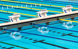 Olympic Sport Competition Swimming Pool Lanes Stock Photography