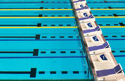 Olympic Sport Competition Swimming Pool Lanes Stock Image