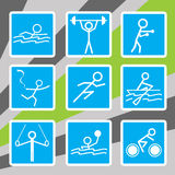 Olympic sport icons Stock Image