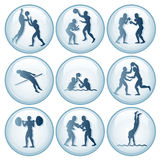 Olympic Sport Icons Set 2 Royalty Free Stock Photo