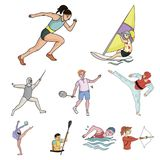 Olympic sport related icon set Royalty Free Stock Images