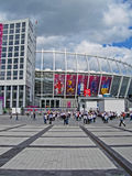 Olympic Sport Stadium before match Sweden-England, Stock Image