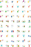 OLYMPIC SPORTS colored flat icons. This is a set of colored flat icons of Olympic sports Royalty Free Stock Photo