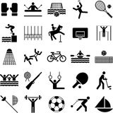 Olympic sports icons. Some icons related to the Olympics Royalty Free Stock Photos