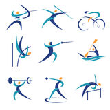 Olympic sports icons. Colorful Icons and illustrations with  Olympic sports. Vector illustration Royalty Free Stock Photo
