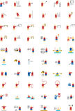 Olympic sports icons Stock Image