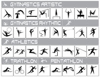 Olympic sports. Icons of summer olympic sports Royalty Free Stock Images