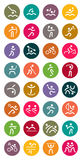 Olympic Sports Vector Icon Set Royalty Free Stock Photos