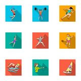 Olympic sports. Winter and summer sports. A set of pictures about athletes.Olympic sports icon in set collection on flat Royalty Free Stock Photos