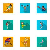 Olympic sports. Winter and summer sports. A set of pictures about athletes.Olympic sports icon in set collection on flat Stock Photos