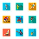 Olympic sports. Winter and summer sports. A set of pictures about athletes.Olympic sports icon in set collection on flat. Style vector symbol stock web Royalty Free Stock Image