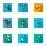 Olympic sports. Winter and summer sports. A set of pictures about athletes.Olympic sports icon in set collection on flat. Style vector symbol stock web Royalty Free Stock Photography