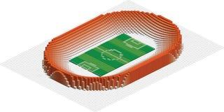olympic stadion för abstrakt fotboll Arkivbild