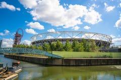 Olympic Stadium в Лондоне, Великобритании Стоковые Фотографии RF