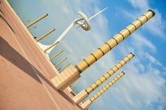 Olympic Stadium и деревня на Барселоне во время Олимпийских Игр 1992 Стоковое Изображение RF