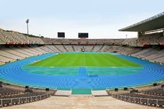 Olympic stadium. View of Olympic stadium in Barcelona, Spain Royalty Free Stock Images