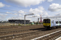 Olympic Stadium. LONDON - MAY 31: The 2012 London Olympic stadium nears completion in Stratford London on May 31, 2011 Stock Image