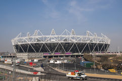 Olympic Stadium 2012. LONDON, UK – MARCH 24: London Olympics Stadium with its construction site on March 24, 2012 in London. The Olympic Park is due to be Stock Photos