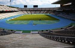 Olympic stadium. Empty olympic stadium in Barcelona Royalty Free Stock Photography
