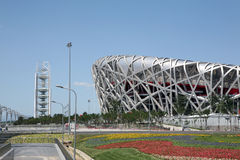 Olympic Stadium. Bird's nest - China National Stadium Olympic games Royalty Free Stock Images