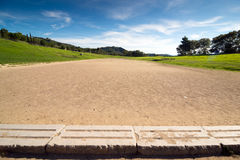 Olympic stadium. Ancient classic greek olympic stadium at Olympia in Greece Royalty Free Stock Image