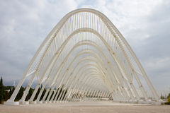 Olympic Stadium in Athens, Greece. Built in 2004. Popular European landmark Stock Photo