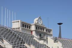 Olympic Stadium av Barcelona i Montjuic Royaltyfri Bild