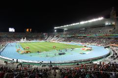 Olympic Stadium of Barcelona. During the 20th European Athletics Championships at the Olympic Stadium on July 30, 2010 in Barcelona, Spain Stock Image