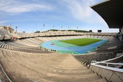 Olympic Stadium in Barcelona Stock Photography