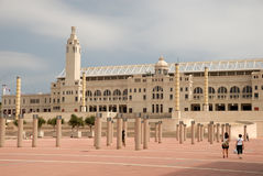 Olympic stadium in Barcelona Stock Images