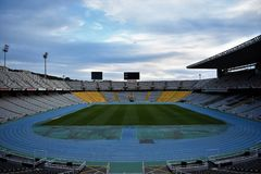 Olympic Stadium - Barcelona. Olympic games of 1992. Inside View of Olympic Stadium - Barcelona. Olympic games of 1992 Royalty Free Stock Photos
