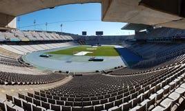 Olympic Stadium Barcelona. From Montjuic hill. Estadi Olímpic Lluís Companys Royalty Free Stock Photography