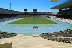 Olympic athletic sports stadium Barcelona Spain Royalty Free Stock Photography