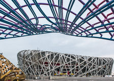 Olympic Stadium in Beijing China Stock Photography