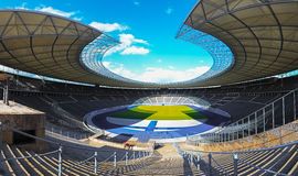Olympic stadium in Berlin. The Olympiastadion Berlin is a sports stadium in Berlin, Germany. It was originally built for the 1936 Summer Olympics by Werner March Royalty Free Stock Photo